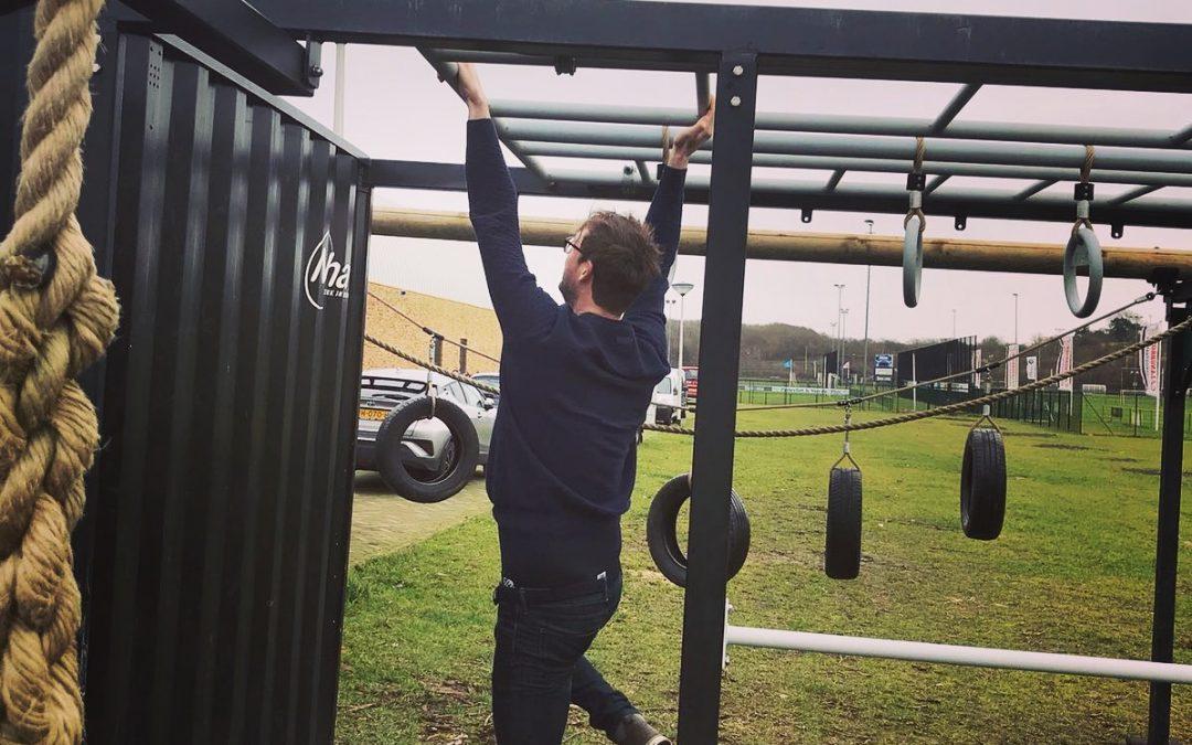 sportcontainer in Velsen tijdens gezondheidsbeurs